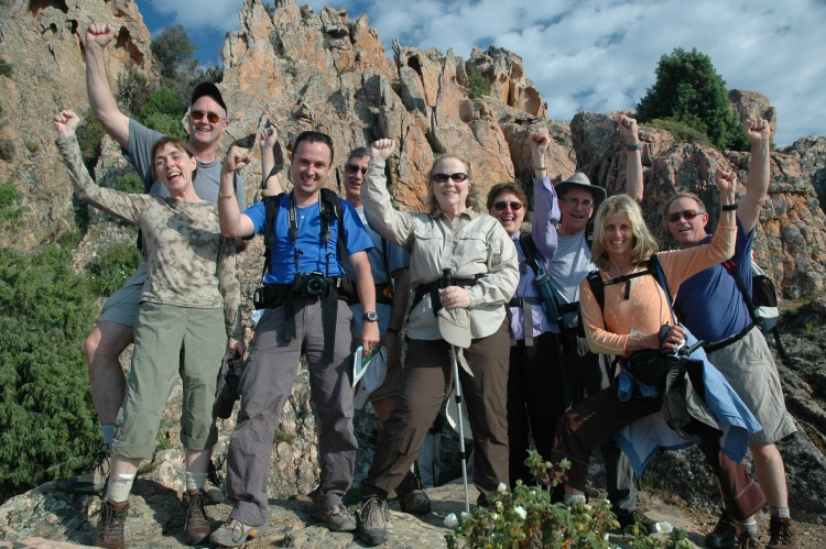 Walking The World group in Corsica